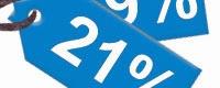 Per 1 oktober 2012:  BTW wordt verhoogd van 19 naar 21%